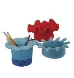 Galway Worsted 1051 Felted Pencil Holder & Fluted Bowls Pattern