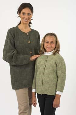 Galway Worsted 1145 Mother / Daughter Cardigans Pattern