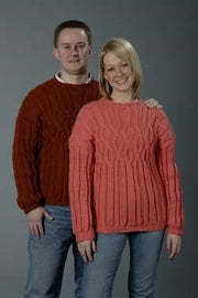 Galway Worsted 1150 Ladies & Men's Rib & Cable Pullovers Pattern