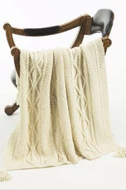 Galway Worsted 1152 Cabled Throw