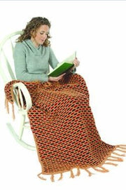 Galway Worsted 1231 Three Color Honeycomb Afghan Pattern