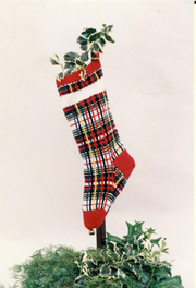K1C2 #7135 Mad For Plaid Christmas Stocking