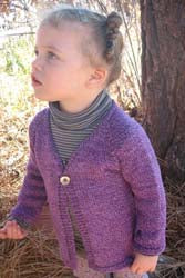 KPS 0296 Girls' One-Button Cardigan