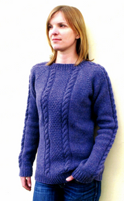 KPS 1305 Beginners' Cabled Pullover