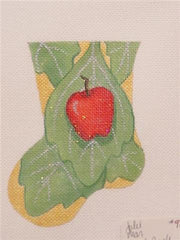 Leaf & Apple Mini Stocking