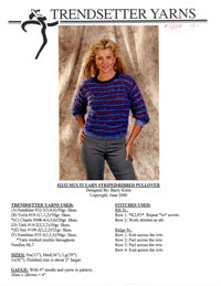 Multi Yarn Striped/Ribbed Pullover 2132