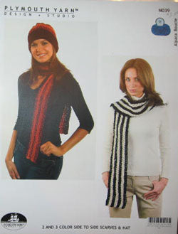 N039 2&3 Color Side to Side Scarves & Hat