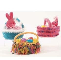 P599 Galway Worsted Felted Easter Baskets Pattern