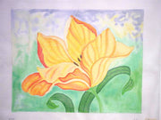 Painterly Yellow Tulip