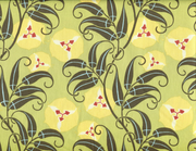 Quilting Fabric ABS4 Passion Vine - Lime
