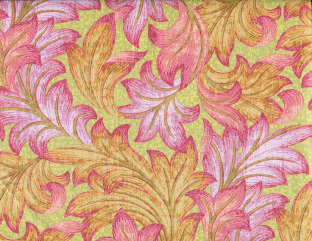Quilting Fabric CM35 Acanthus Dance Kiwi