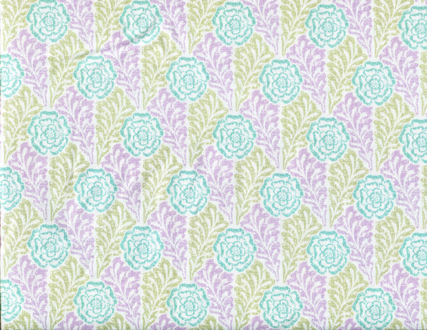 Quilting Fabric CM36 Rose Stencil Lilac