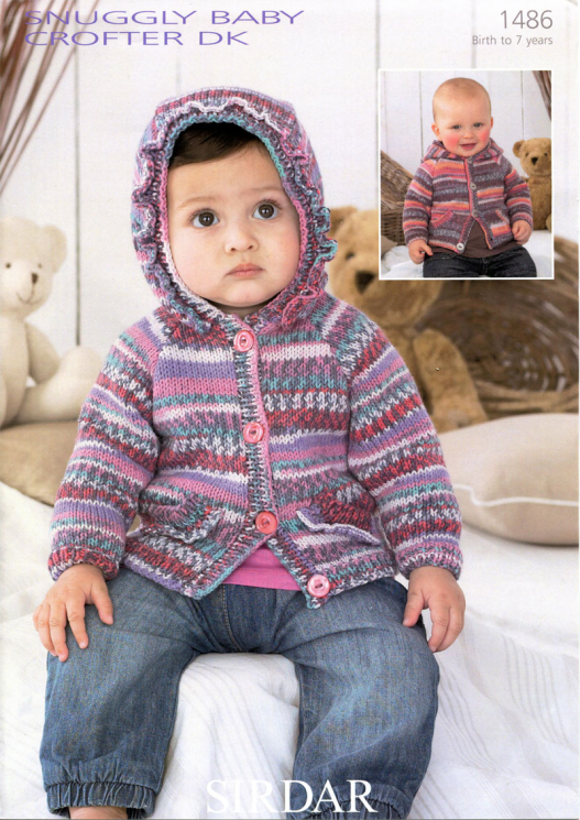 Sirdar 1486 Snuggly Baby Crofter DK Hooded Cardigans
