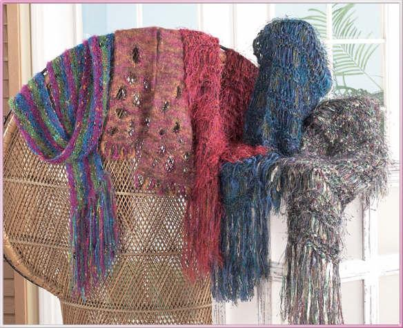 Trendsetter 2620 Novelty Yarn scarves