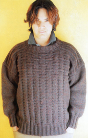 Woven Squares Pullover #202