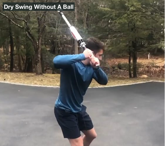 Elijah Taitel dry swings the ProVelocity bat 15 minutes each day to keep his swing speed over 60 mph.