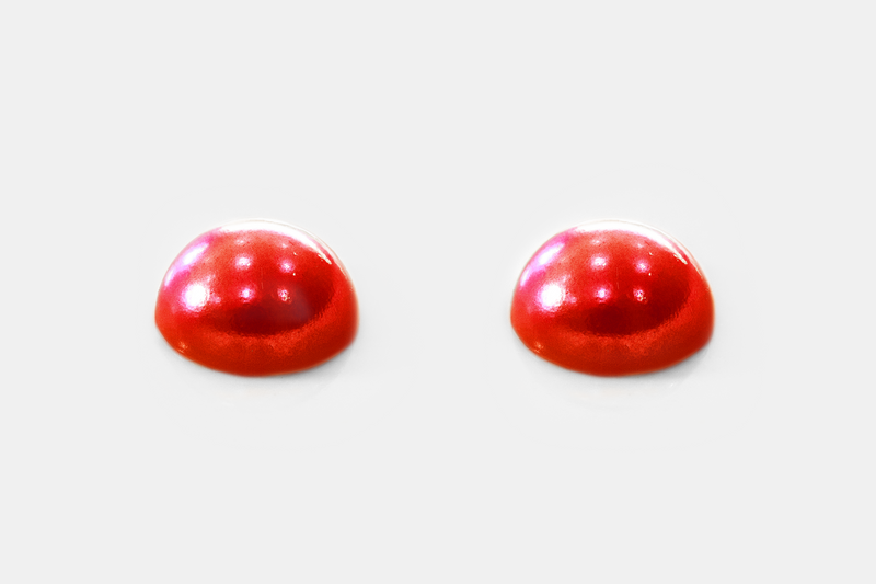 Red Half Round Pearls