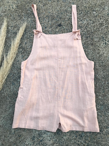 Miracle Linen Overalls - Oatmeal