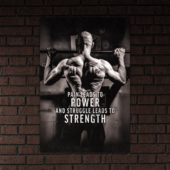Pain Leads To Power - Matte Poster