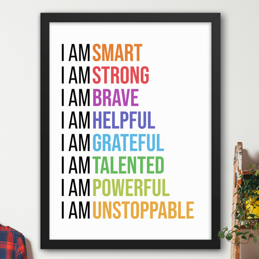 I Am Affirmations (Colorful)