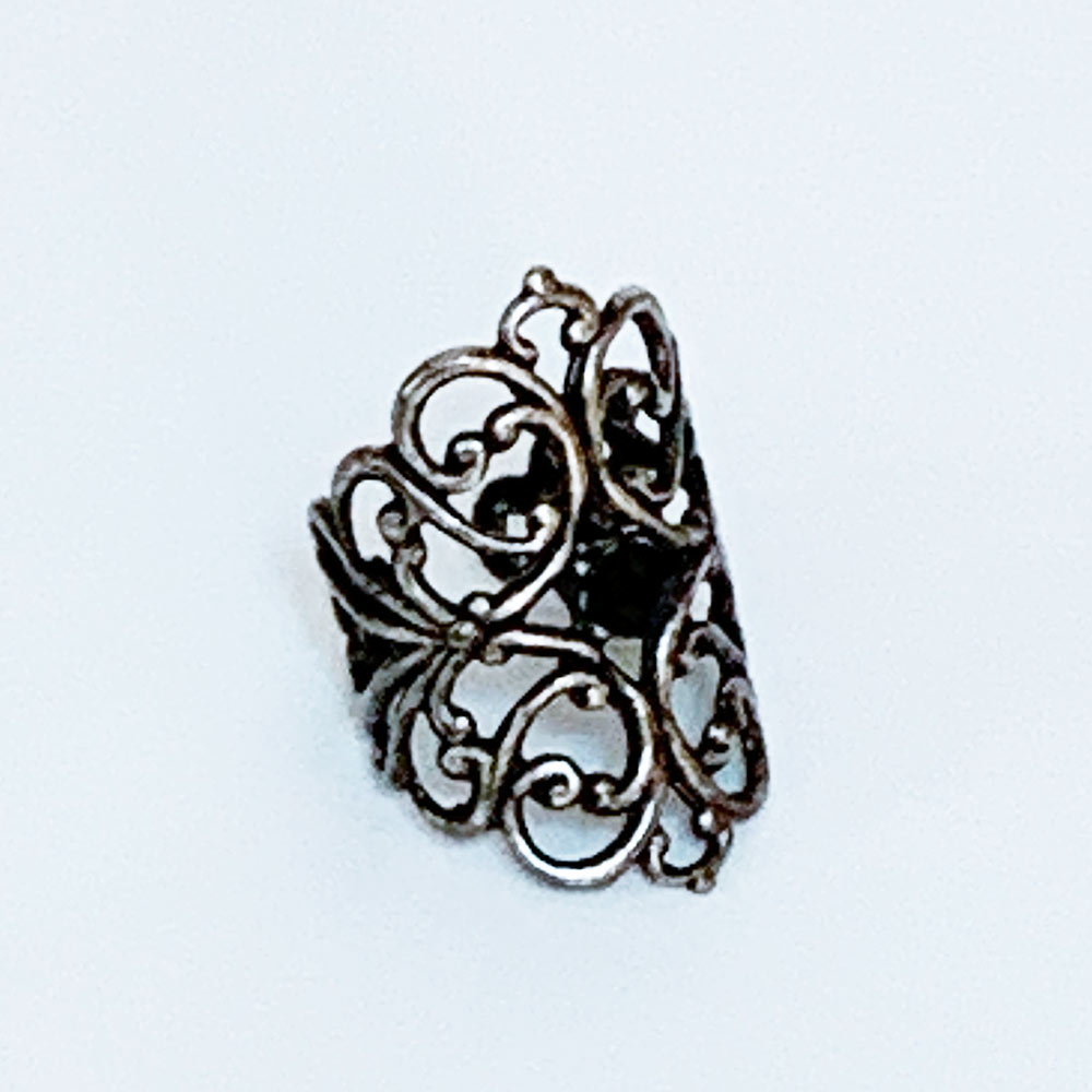 Gothic Victorian Silver Knuckle Ring | Gothic Grace
