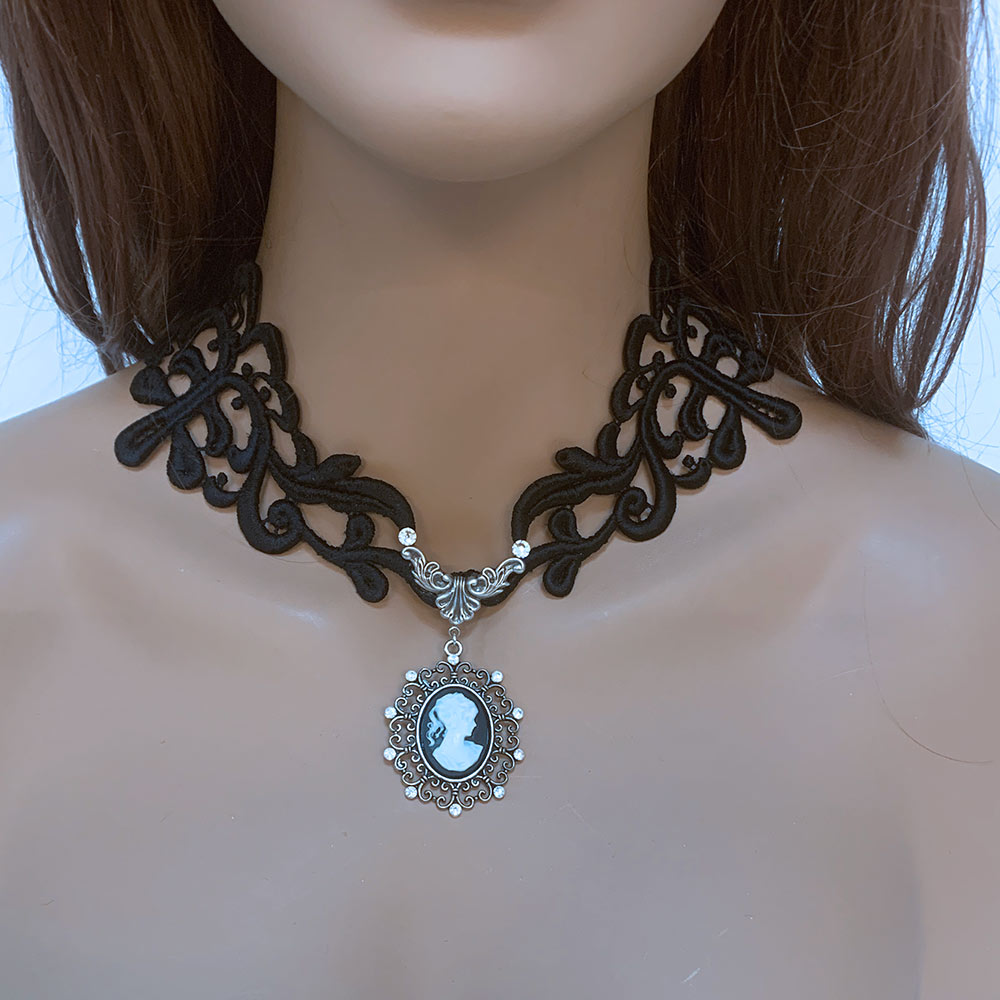 Gothic Cameo Necklace | Gothic Grace
