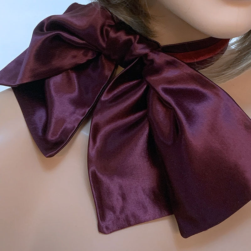 Burgundy Oversized Bow Choker | Gothic Grace