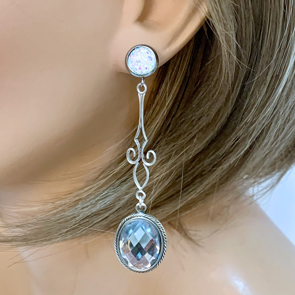 Crystal Drop Earrings | Gothic Grace