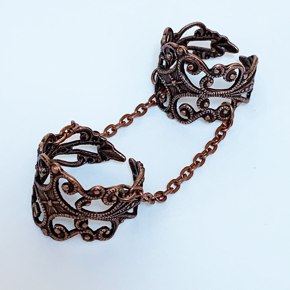 Copper Double Ring | Gothic Grace