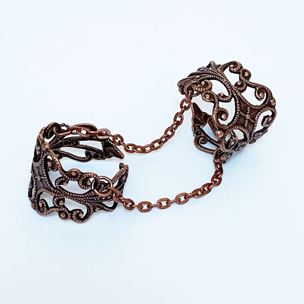 Gothic Double Ring Copper | Gothic Grace