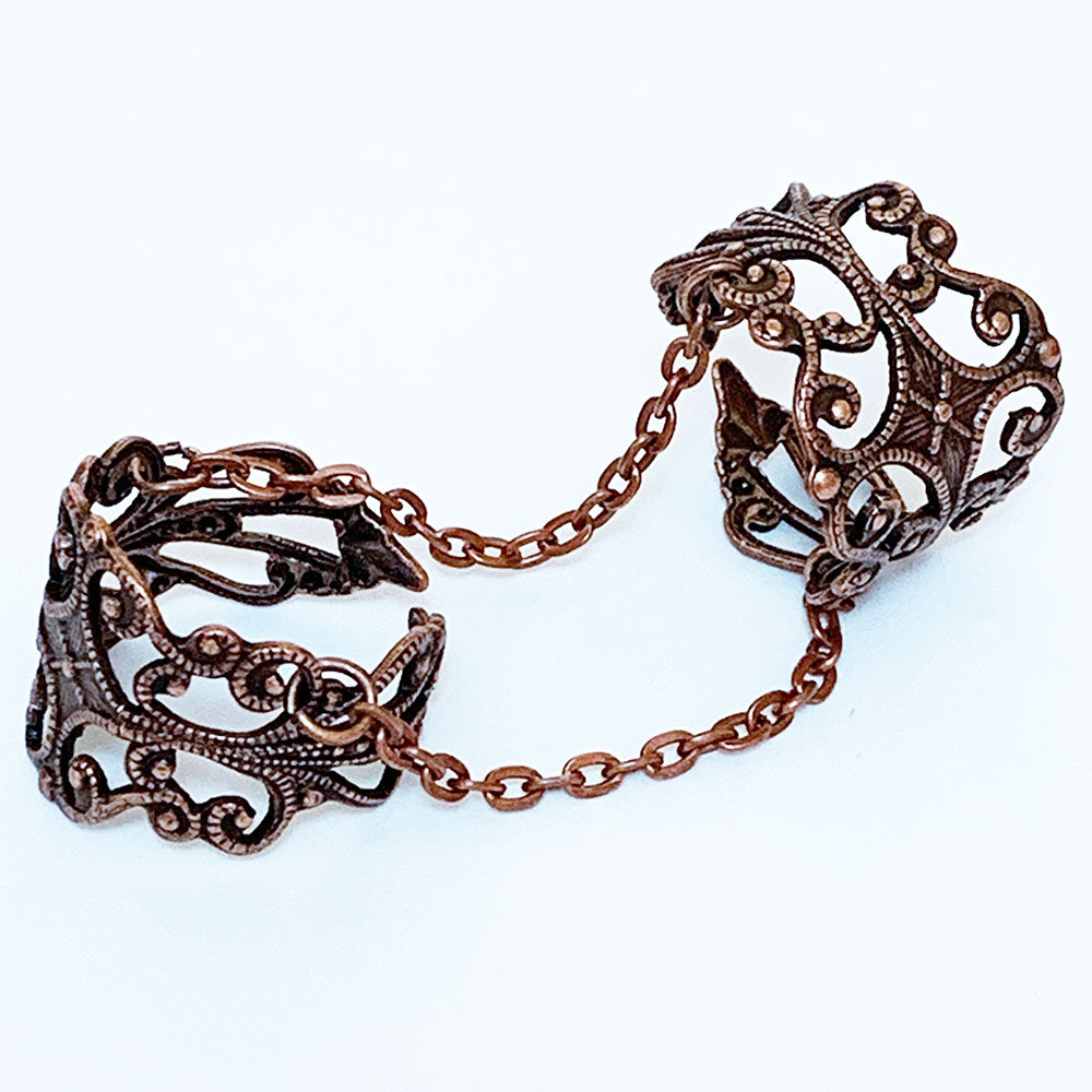 Gothic Double Ring, Copper | Gothic Grace