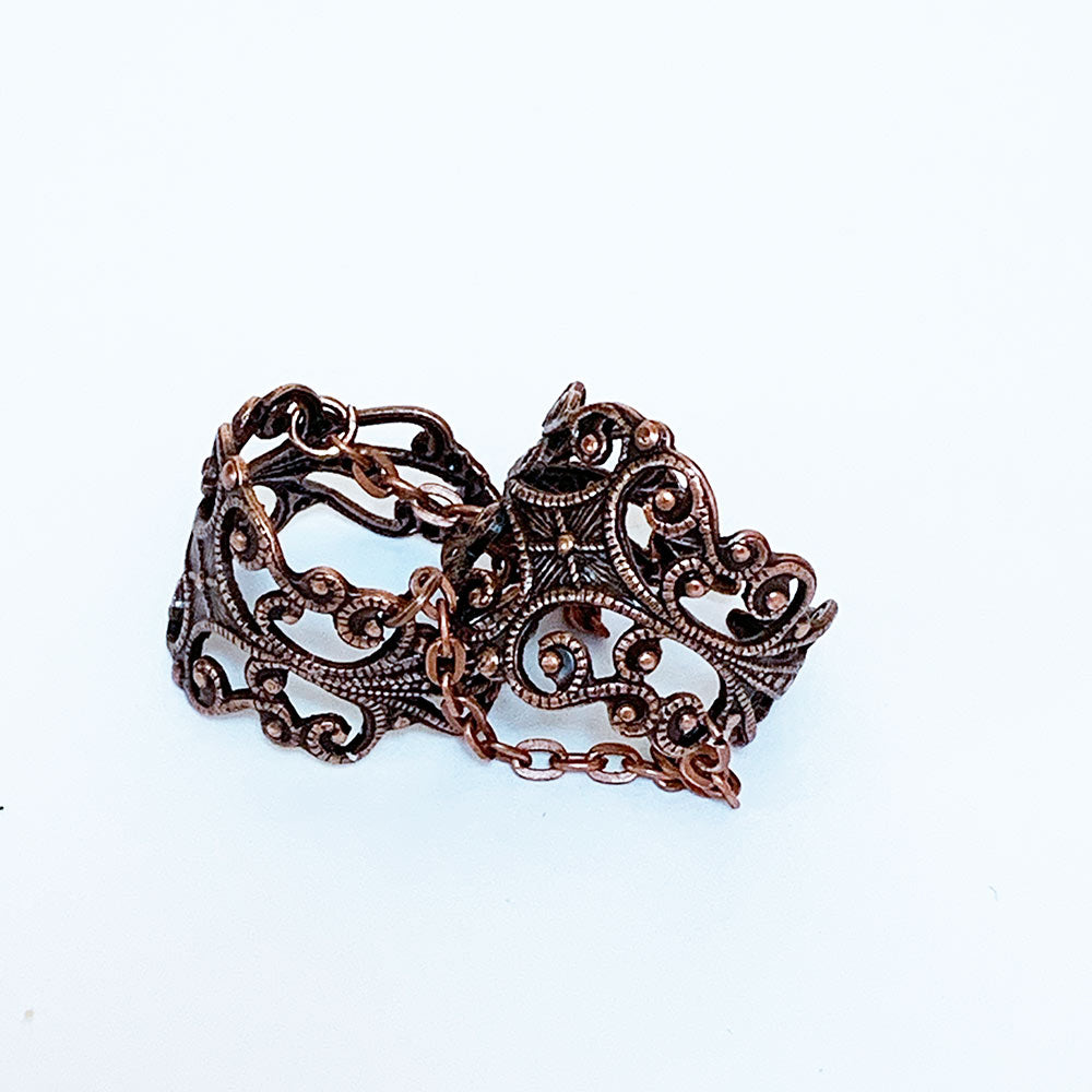 Copper Gothic Double Ring | Gothic Grace