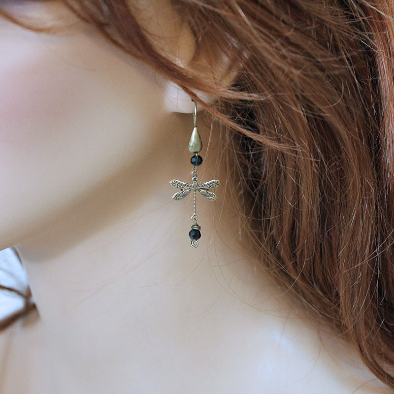 Dragonfly Earrings - Gothic Grace