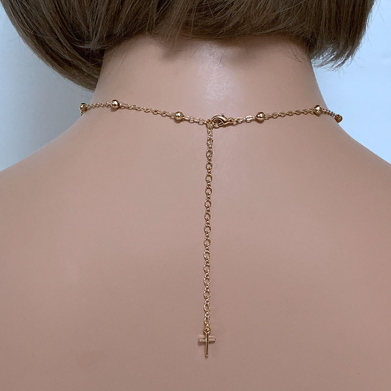 Back of Gold Rosary Necklace | Gothic Grace