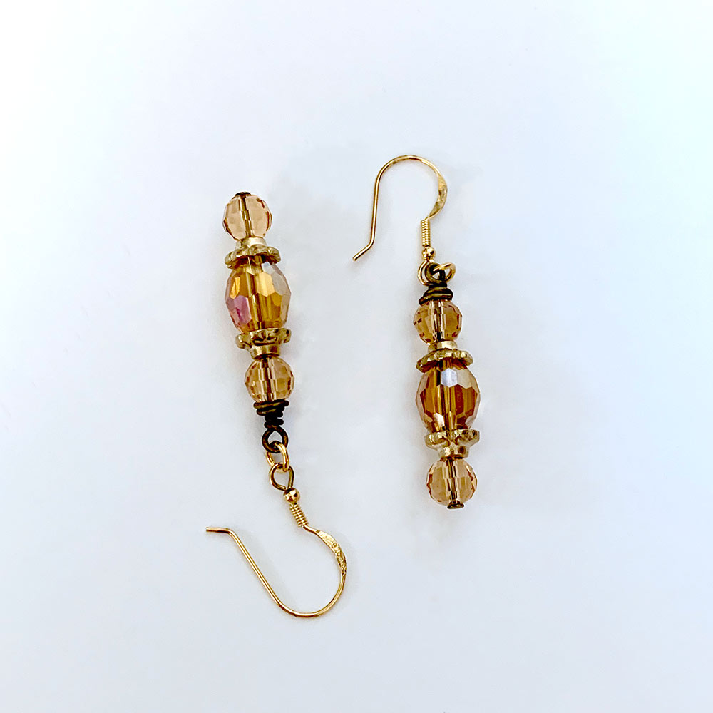 Gold Victorian Earrings | Gothic Grace