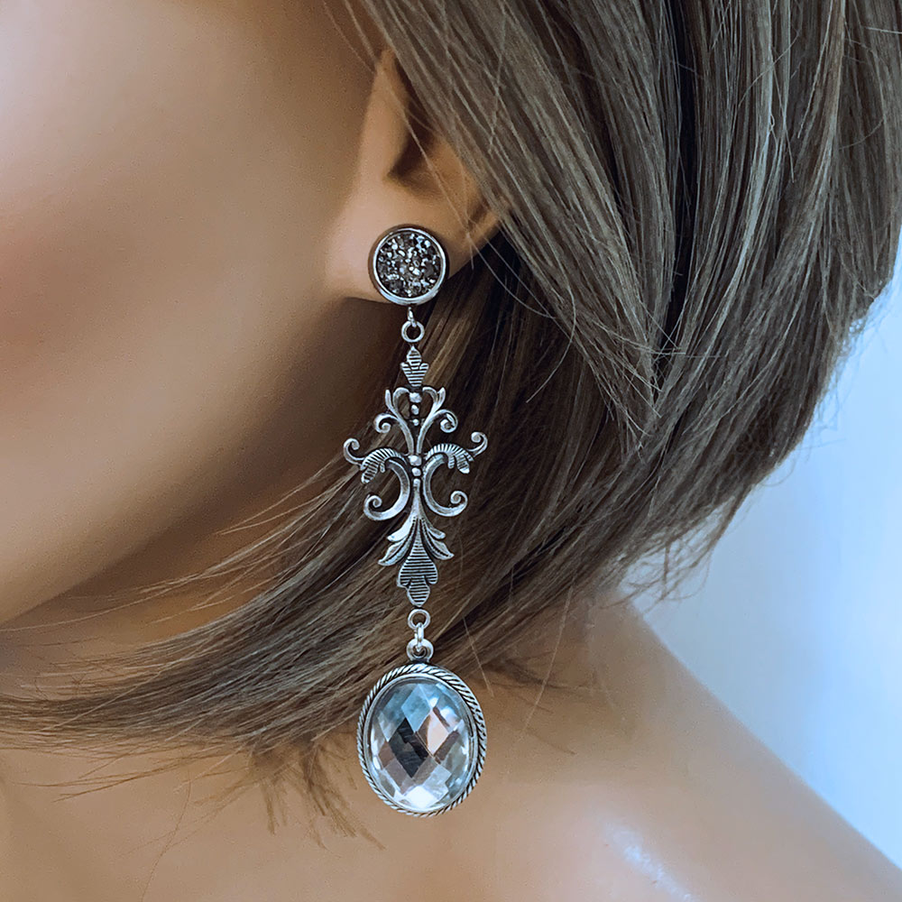Crystal Victorian Earrings | Gothic Grace
