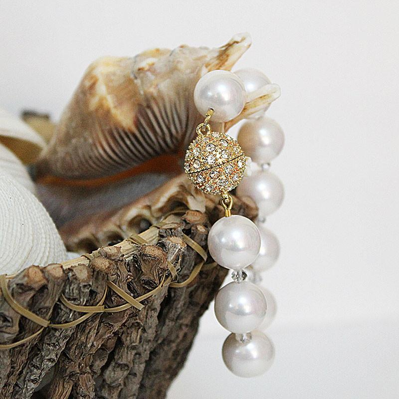 Large Mother of Pearl Bracelet - Gothic Grace