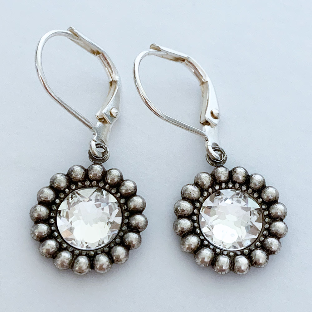Silver Swarovski Crystal Earrings | Gothic Grace