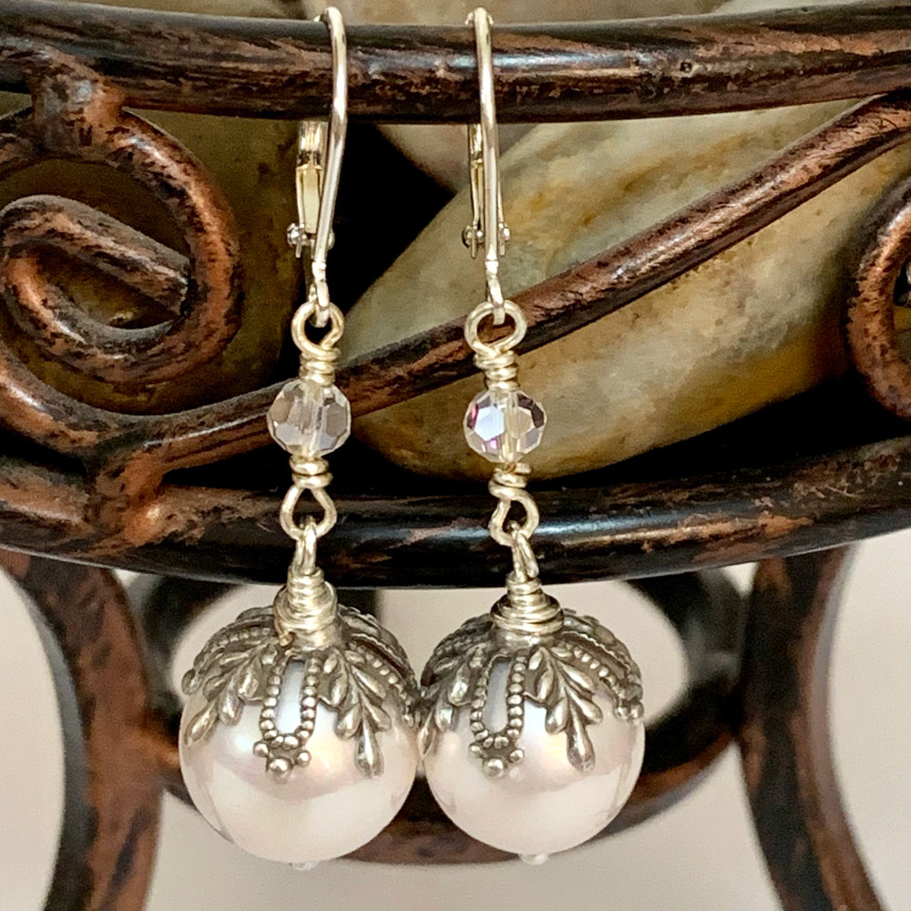 Pearl Victorian Dangle Earrings | Gothic Grace