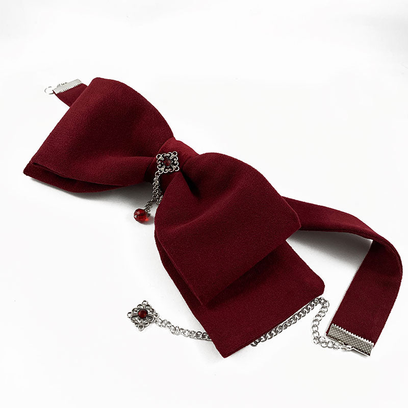Christmas Red Bow Choker | Gothic Grace