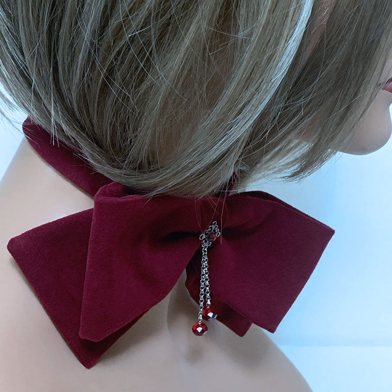 Sexy Red Bow Choker | Gothic Grace