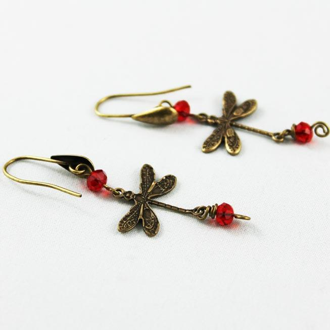 Whimsical Dragonfly Earrings - Gothic Grace
