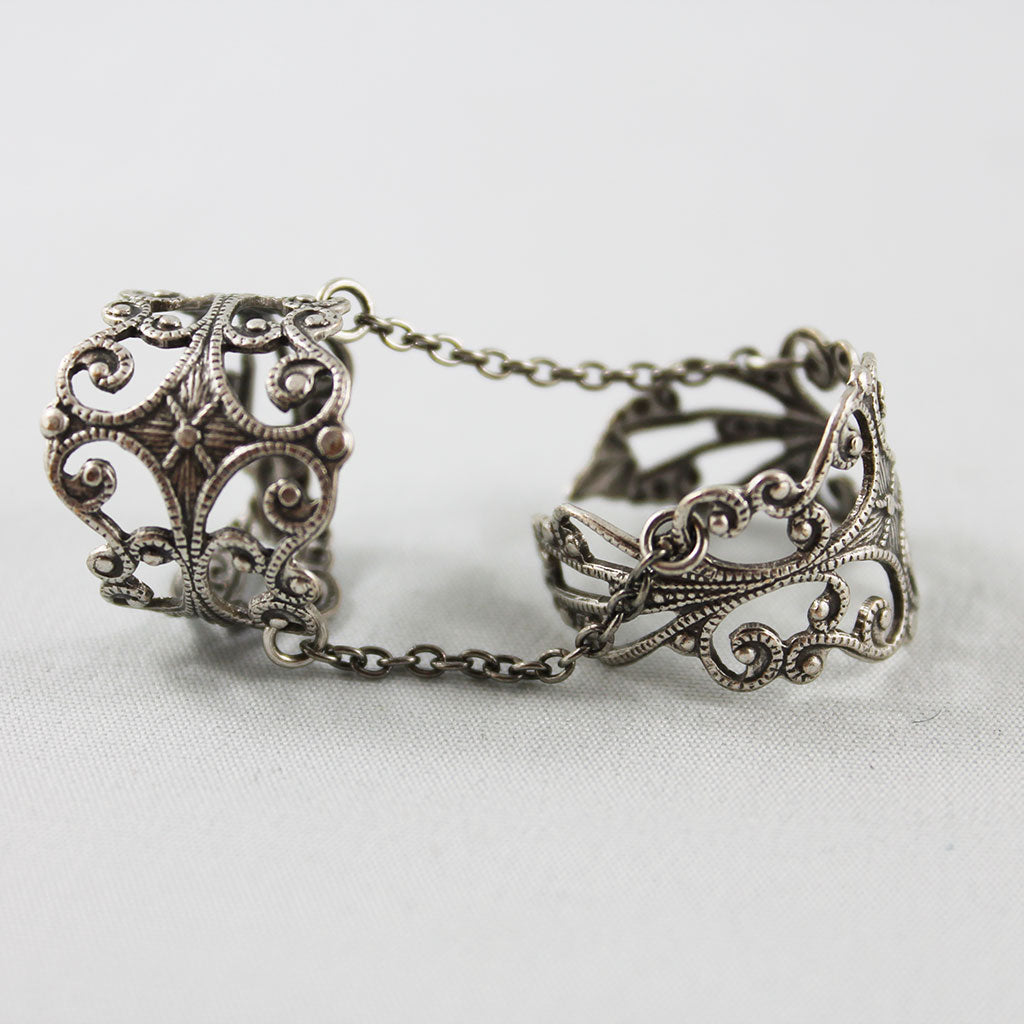 Gothic Double Ring, Silver | Gothic Grace