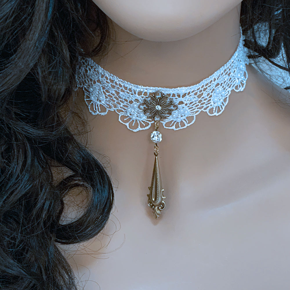 White Lace Victorian Choker | Gothic Grace