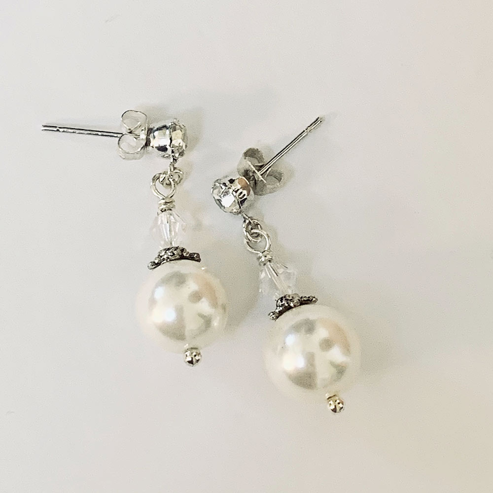 White Pearl Victorian Earrings | Gothic Grace