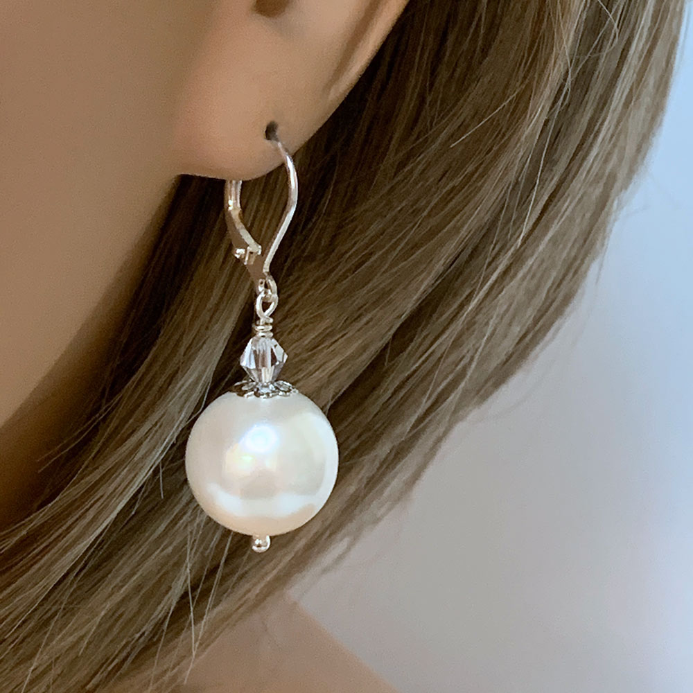 Elegant Pearl Bridal Earrings | Gothic Grace