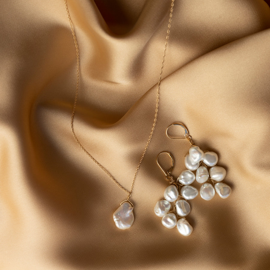 Sofia single baroque pearl necklace (PRE-ORDER)