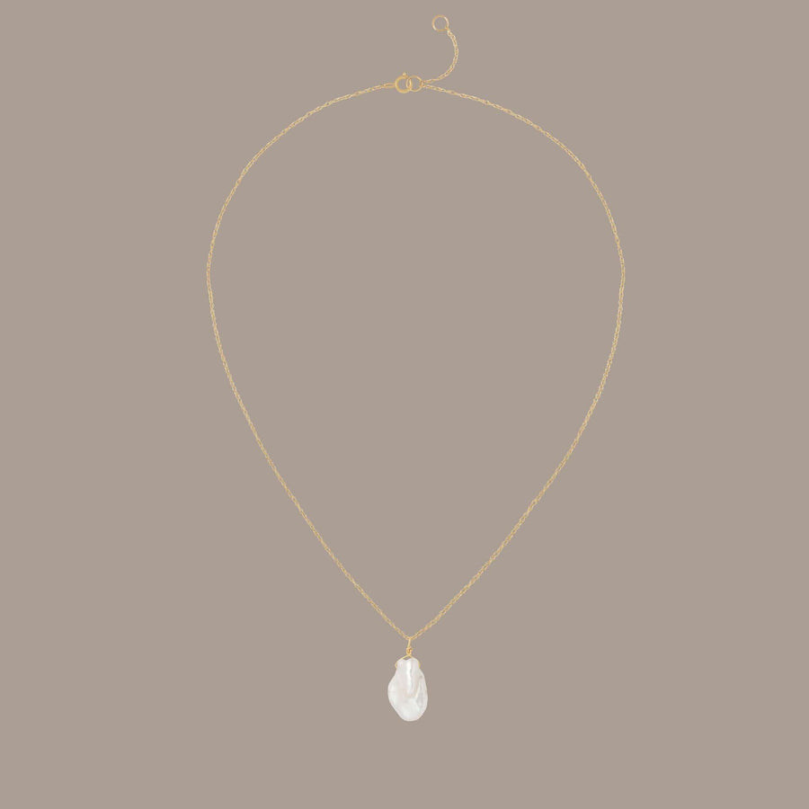 Solid Gold Pearl Necklace