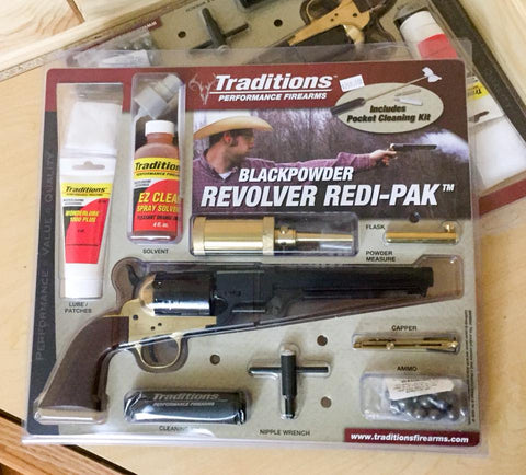 Traditions Black Powder .44 cal Colt Navy Percussion Cap Muzzleloader Pistol Redi-Pak