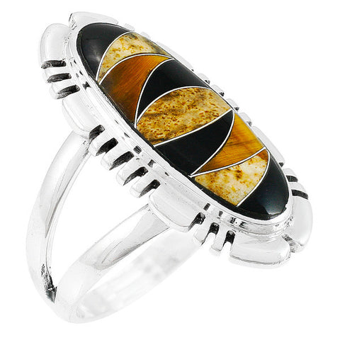 Tiger's Eye Ring in 925 Sterling Silver (Size 6)